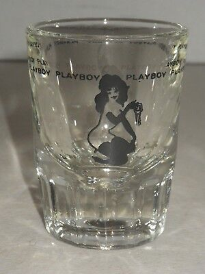 "Vintage Playboy Club Leroy Neiman ""femlin"" Logo Shot Glass, Circa 1960's,  Heavy"
