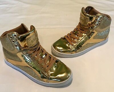 Pastry Gold Hip Hop Sneakers Shoes size 10 Women's