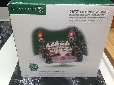 Dept 56 animated holiday singers 52505