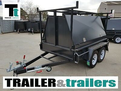 8x5 TANDEM TRADESMAN TRAILER | 1990Kg GVM | 900mm TRADESMAN TOP | JOCKEY WHEEL