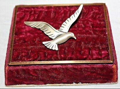 Beau Marked Sterling Silver Dove Bird Adorable Pin Brooch Bd9