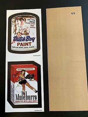 2018 Lost Wacky Packages VARIATIONS Double 1st 2nd Series TAN BACK #4/5