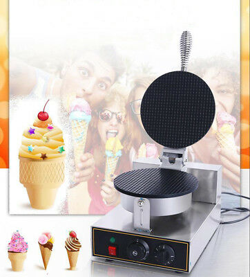 Stainless Steel Electric Ice Cream Egg Waffle Cone Maker Machine Non Stick Pan