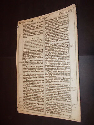 1611 King James Bible Leaf-Folio-Romans 15+16-Phoebe(Deaconess)+ Scripture Value