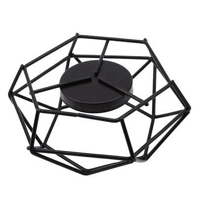 3D Geometric Iron Frame Tea Light Holder Votive Candle Stand Wedding Home FW