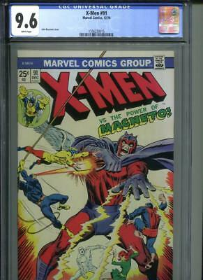 X-men #91 CGC 9.6 White Pages Magneto John Buscema Cover