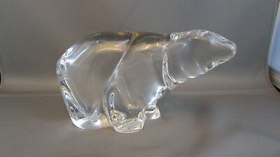 Huge Lead Crystal Polar Bear Sculpture Stunning Hadeland Norway