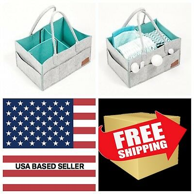 Portable Baby Diaper Caddy Organizer Tote Travel Bag Nursery Storage Bin