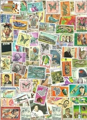 Guinea Collection From Old Stamp Hoard 116 Large Off Paper Used **SALE**