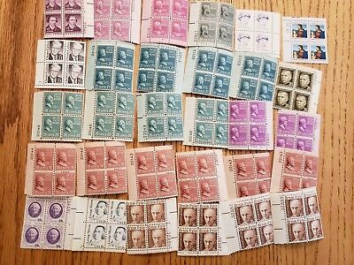 U.S. MNH Postage, 237 Plate Blocks (small size) 5 Cent to $1 Stamps,FV $75