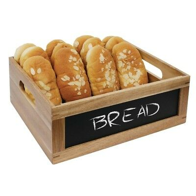 Olympia Bread Crate with Chalkboard 1/2 GN Wood