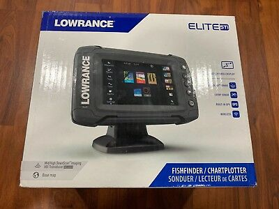 Lowrance Elite-5 Ti Med/High/ Totalscan Fishfinder New!!!