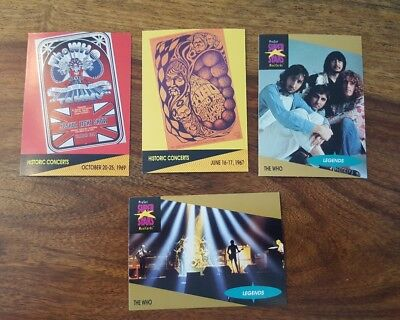 4 Proset Music cards - The who