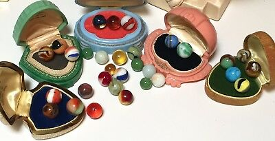 Thirty-One Antique/Vintage Glass Marbles