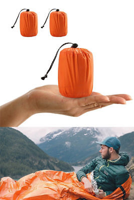 Reusable Emergency Sleeping Bag Thermal Waterproof Survival Camping Travel Bag #