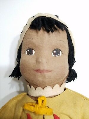 Vintage * Antique * LENCI * American Native Indian Doll * 1940's / 1950's * RARE