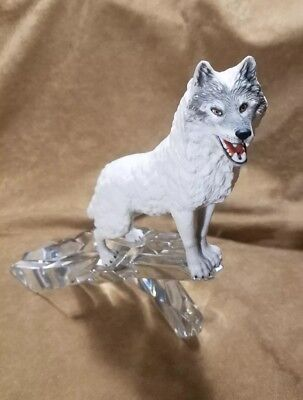 """National Wildlife Federation Wolf by Franklin Mint """"Cry of the North"""""""