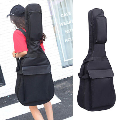 """41""""inch Electric Acoustic Guitar Bag Case Bass Carry Shoulder Straps Durable New"""