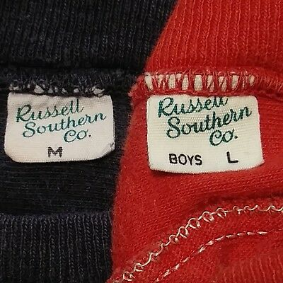 Lot of 2 - 1950s RUSSELL SOUTHERN Vtg T-SHIRTS Boys 29 32 COTTON USA WPL 7232