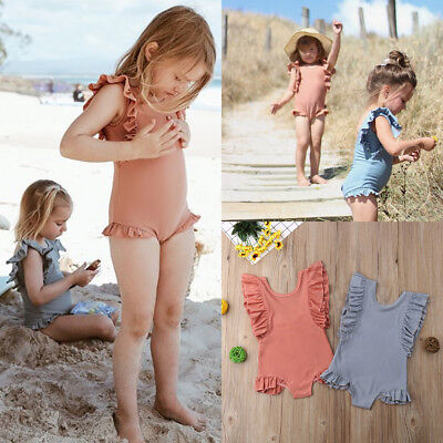 Toddler Kids Baby Girls Swimwear Swimsuit Bikini Bathing Suit Swimming Beachwear