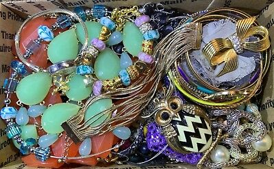 Huge Vintage - Now Jewelry Lot Estate Find Junk Drawer UNSEARCHED UNTESTED #112