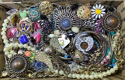 Huge Vintage - Now Jewelry Lot Estate Find Junk Drawer UNSEARCHED UNTESTED #113