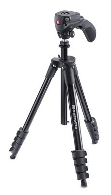 Manfrotto MKCOMPACTACN-BK tripod Digital/film cameras 3 leg(s) Black - MKCOMPACT
