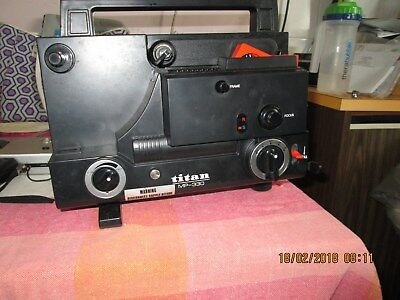 Titan 8mm Projector and YashicaElectro8 YXL Zoom 25Movie Camera