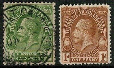 Lot 5200 - Turks and Caicos Islands - Two King George V stamps