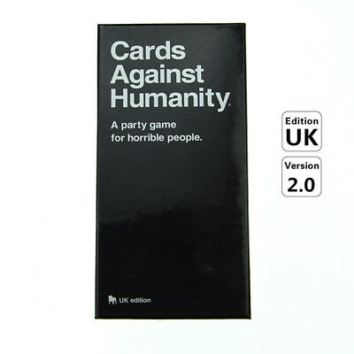 Cards Against Humanity UK V2.0 Latest Edition New Sealed 600 Cards Board Game