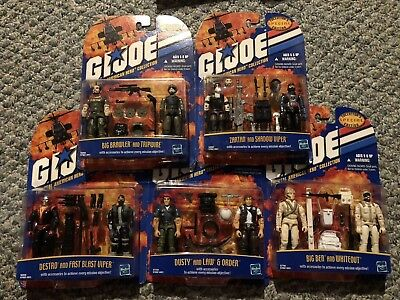 GI JOE Real American Hero Collection - Lot Of 5         2 Figure Packs.