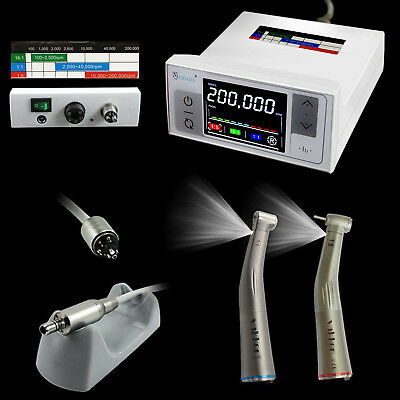 NSK LED Dental Electric Motor + 1:1 1:5 LOW & High Speed Handpiece Contra Angle