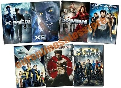 X-Men Xmen 1 2 3 Complete Film Series Collection DVD Set Wolverine First Class 4
