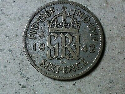 young queen Great Britain Sixpence 1967 6 pence   Wedding coin gift BU toned