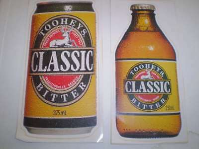 TWO  old beer advertising stickers  Tooheys Classic (25 cms high)