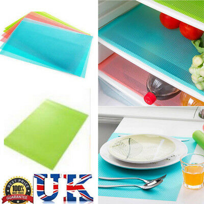4pcs Easy Clean Kitchen Antibacterial Cabinet Pad Anti Slip Fridge Liner Mat GB