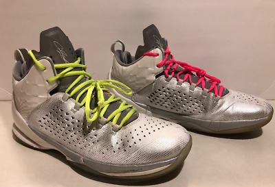 d8620bf1a1ddea Air Jordan Melo M11 All Star Pearl White Silver Platinum 716639-106 Size 12