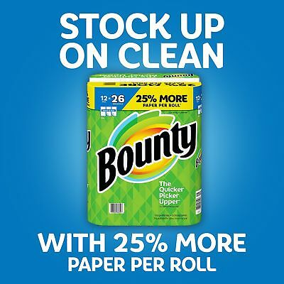 Bounty Paper Towels, White, (HUGE Roll), (Select Qt) ****NEW**** FREE SHIPPING
