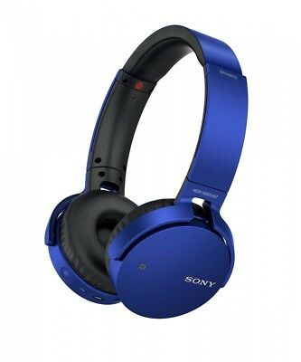 SONY MDR-XB650BT Blue Extra Bass Bluetooth Headphones Japan Import With Tracking