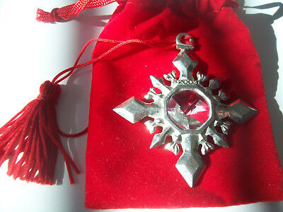 Avon Pewter Christmas Ornament 2003 with Box