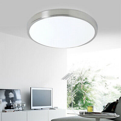 Bright LED Ceiling Down Light Panel Wall Home Bathroom Kitchen White Lamp Round