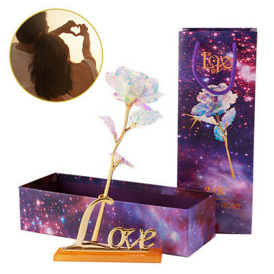 Lighted Romantic Gold foil 24-k Rose Love Gifts Dipped Flower Valentine Gifts