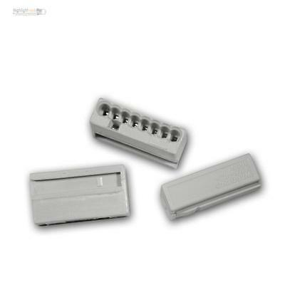 50 Set Wago Micro Connectors 8x 0,6 -0, 8 mm ² - Grey Box Terminals Serrefine