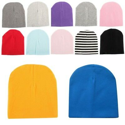 22 Colors Unisex Newborn Kid Child Baby Soft Cotton Hat Boy Girl Toddler Cap US