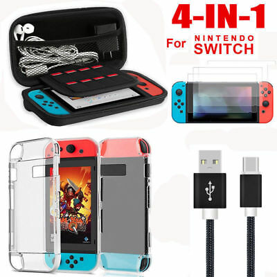 For Nintendo Switch Accessories Hard Case Bag Shell Cover Charge Cable Protector