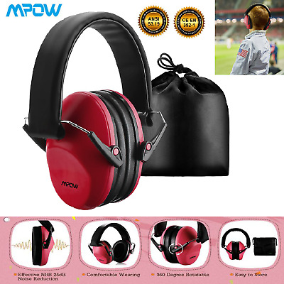 Mpow Autistic ASD Hypersensitive Infant Kids CHILD DEFENDERS NOISE EAR MUFFS-Red