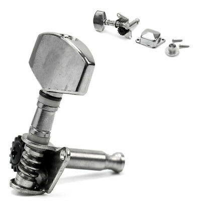 Silver Semiclosed Guitar Tuning Pegs Tuners Machine Heads Acoustic Electric