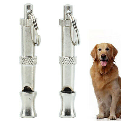 2 x Dog Training Whistle Adjustable High ultrasonic Sound key Chain Puppy acme