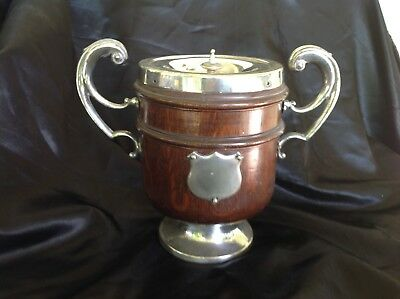 Vintage Two Handled Timber And EPNS Ice Bucket