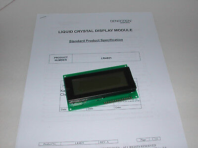 Densitron LR4821 4X20 monochrome parallel data 5 Volt LCD Display New with data